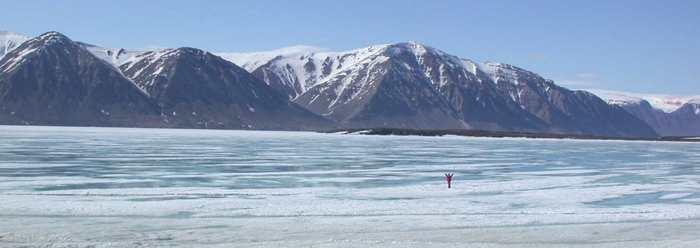 Det som ser ut som vann på isen ER vann på isen.